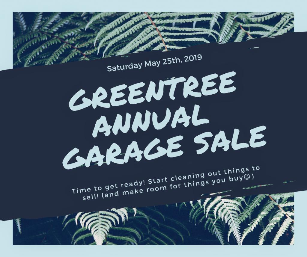 Greentree Annual Garage Sale Greentree Community Center
